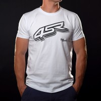 4SR T-shirt Logo White