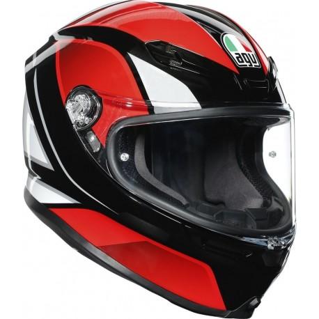 AGV K6 - HYPHEN BLACK/RED/WHITE