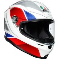 AGV K6 - HYPHEN WHITE/RED/BLUE