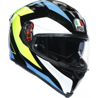AGV K5 S - CORE BLACK/CYAN/YELLOW FLUO