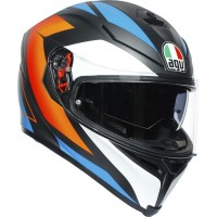 AGV K5 S - CORE MATT BLACK/BLUE/ORANGE