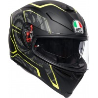 AGV K5 S - TORNADO BLACK/YELLOW FLUO