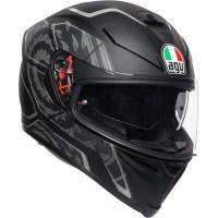 AGV K5 S - TORNADO MATT BLACK/SILVER