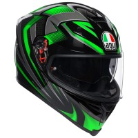 AGV K5 S - HURRICANE 2.0 BLACK/GREEN
