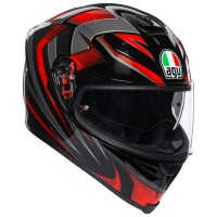 AGV K5 S - HURRICANE 2.0 BLACK/RED