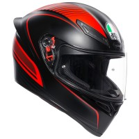 AGV K1 - WARMUP MATT BLACK/RED