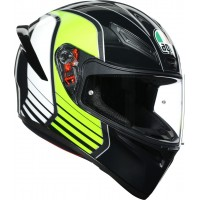 AGV K1 - POWER GUNMETAL/WHITE/GREEN