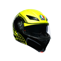 AGV COMPACT ST - BOSTON MATT BLACK/GREY/YELLOW