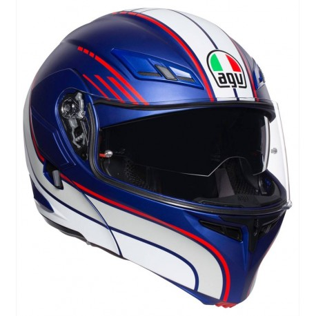 AGV COMPACT ST - BOSTON MATT BLUE/WHITE/RED
