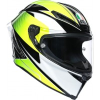 AGV CORSA R - SUPERSPORT BLACK/WHITE/LIME
