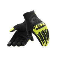 DAINESE BORA AIR TEX GLOVES BLACK/FLUO-YELLOW