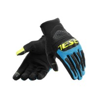 DAINESE BORA AIR TEX GLOVES BLACK/BLUE/YELLOW