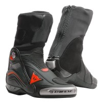 DAINESE R AXIAL PRO IN BOOTS BLACK/RED-FLUO