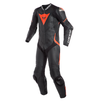 DAINESE LAGUNA SECA 4 1PC BLACK/BLACK/FLUO-RED