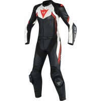 DAINESE AVRO D2 2PCS LADY BLACK/WHITE/FLUO-RED
