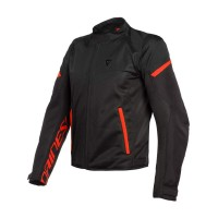 DAINESE BORA AIR TEX JACKET BLACK/FLUO-RED