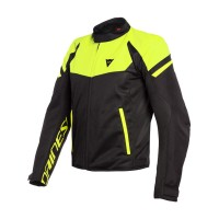 DAINESE BORA AIR TEX JACKET BLACK/FLUO-YELLOW