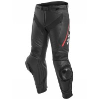 DAINESE DELTA 3 PANTS BLACK/BLACK/FLUO-RED