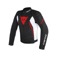 DAINESE AVRO D2 TEX JACKET BLACK/WHITE/RED