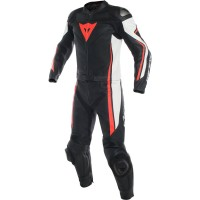 DAINESE ASSEN 2PCS BLACK/WHITE/FLUO-RED