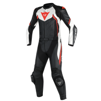 DAINESE AVRO D2 2PCS BLACK/WHITE/RED-FLUO 44