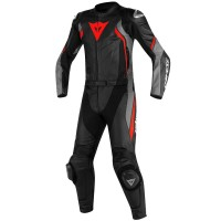 DAINESE AVRO D2 2PCS BLACK/MATT-GRAY/LAVA-RED 44