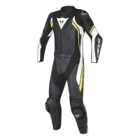 DAINESE AVRO D2 2PCS BLACK/WHITE/YELLOW-FLUO 50