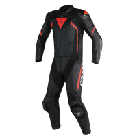 DAINESE AVRO D2 2PCS BLACK/BLACK/RED-FLUO 44
