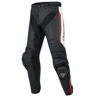 DAINESE MISANO PANTS BLACK/WHITE/RED-FLUO