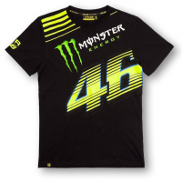 VR46 T-SHIRT MONSTER MONZA BLACK