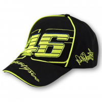 VR46 CAP VALENTINO ROSSI BLACK/YELLOW