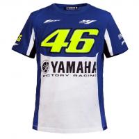 VR46 T-SHIRT YAMAHA BLUE/WHITE