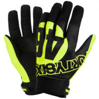 VR46 GLOVES STAMP VRFORTYSIX BLACK/FLUO-YELLOW