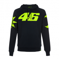 VR46 HOODIE ROSSI SUN AND MOON NAVY BLUE
