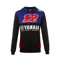 VR46 HOODIE MAVERICK VINALES12 BLACK/BLUE/RED
