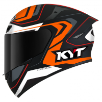 KYT TT-COURSE OVERTECH BLACK/ORANGE