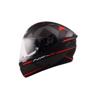 KYT NF-R LOGOS BLACK MATT/RED