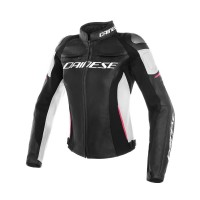 DAINESE RACING 3 JACKET LADY BLACKWHITE/FUXIA