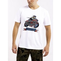 DAVCA T-SHIRT WHITE COFFIN RACER