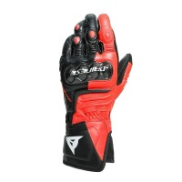 DAINESE CARBON 3 LONG GLOVES BLACK/FLUO-RED/WHITE